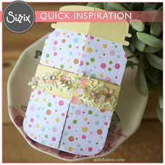 Sizzix Inspiration | Adorable Jar Card by Aida Haron