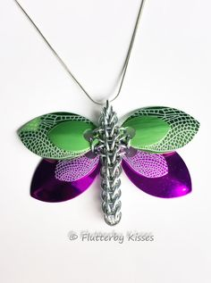 Dragonfly Necklace / Pendant - Choose your colors