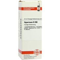 HYPERICUM D 200 Dilution:   Packungsinhalt: 20 ml Dilution PZN: 07170076 Hersteller: DHU-Arzneimittel GmbH & Co. KG Preis: 10,49 EUR…
