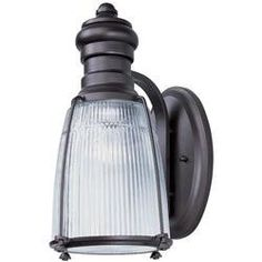 Maxim 35007CLBZ Hi-Bay 1-Light Outdoor Wall Lantern