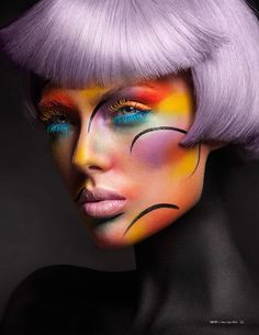 Nikki Makeup | Hue Phoria for Mod Magazine- The Art Issue