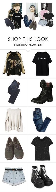 """""""Oops I did it again"""" by hanabusa ❤ liked on Polyvore featuring WithChic, 18th Amendment, Soda, Cheap Monday, Citizens of Humanity, Vans, INC International Concepts, Kain, men's fashion and menswear"""