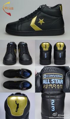 Michael Jordan x Converse Pro Leather Black Sample