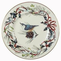 Lenox China Winter Greetings Accent Luncheon Plate,