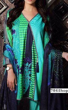 Turquoise Staple Jacquard Suit   Buy Charizma Pakistani Dresses and Clothing online in USA, UK