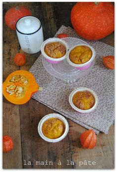 Muffins au potiron et à la compote de pommes - La main à la pâte