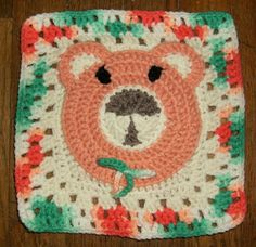 Teddy Bear Squared - an 8 inch square ~ free pattern