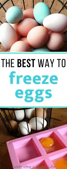 This is the BEST method I've found for how to freeze eggs individually. No more messy yellow lumps of egg that need to get measured out! Freezer Cooking, Freezer Meals, Easy Cooking, Cooking Tips, Freezer Recipes, Egg Recipes, Real Food Recipes, Healthy Recipes, Canning Recipes