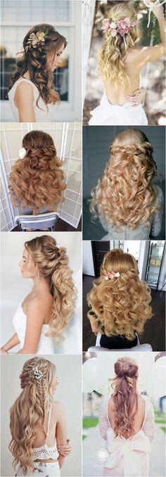 Wedding Hairstyles: 40 Stunning Half Up Half Down Wedding Hairstyles with Tutorial / www.deerpearlfl