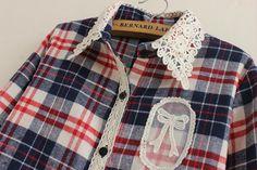 2 015 Высокое качество женщин Топы женские Проверьте рубашка Повседневная отложным воротником Блузка с длинным рукавом плед фланелевые рубашки 3 цвета