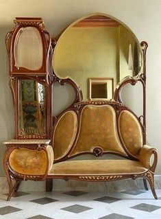 Wojciech W. Ruda on - Art Nouveau / Jugendstil / Art Deco - Furniture Unusual Furniture, Victorian Furniture, Funky Furniture, Rustic Furniture, Furniture Decor, Furniture Design, Furniture Cleaning, Furniture Logo, Outdoor Furniture