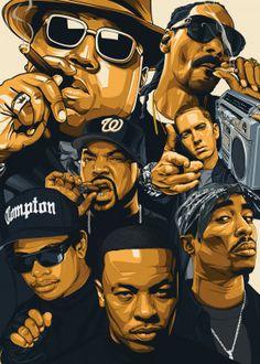 Rap legends banner on Mercari Cartoon Kunst, Dope Cartoon Art, Tupac Wallpaper, Rap Wallpaper, Nike Wallpaper, Wallpaper Quotes, Arte Dope, Dope Art, Hip Hop Graffiti