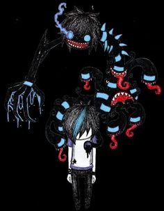 Demiseman Emo Art, Goth Art, Creepy Kids, Creepy Art, Emo Cartoons, Arte Emo, The Night Is Young, Emo Style, Dark Drawings