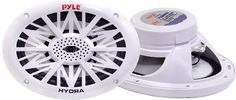 PYLE PLMR692 260 Watts 6-Inch x 9-Inch 2 Way White Marine Speaker (Pair) by Pyle. $42.46. Amazon.com                 Pyle's Hydra series speakers are waterproof and designed for use in your boat, on the dock, by the pool, or simply mounted outside. They're designed with rust-proof mesh covers for protection from the elements. The PLMR692s are a pair of 260-watt, 6 x 9-inch, two-way speakers, suitable for marine use.            Pyle's Hydra series speakers are waterproof and...