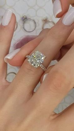 mikasarafunia - 0 results for engagement rings Engagement Ring Rose Gold, Beautiful Engagement Rings, Engagement Ring Cuts, Halo Setting Engagement Rings, Cushion Cut Engagement, Beautiful Wedding Rings, Wedding Rings For Women, Wedding Ring Set, Wedding Rings Sets His And Hers
