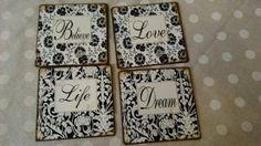 Plechové cedulky s nápisem Love, Life, Dream a Believe https://www.facebook.com/Niels.Decor.bytove.doplnky.dekorace/photos/pb.415419111930791.-2207520000.1428394518./508436655962369/?type=3