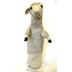 Hand-puppet Sheep puppet Mr Turnip by Joy Laurey 1950. VandA