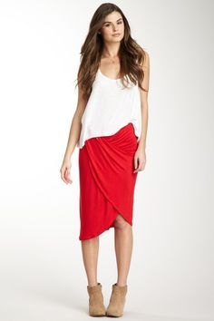 Loveappella Drape Front Skirt by Skirts, Shorts & Crops on @HauteLook