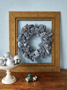 Bypass traditional colors this holiday and design a rustic wreath that complements your decor.