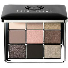 Bobbi Brown Sterling Nights Eye Palette (£59) ❤ liked on Polyvore featuring beauty products, makeup, eye makeup, eyeshadow, cosmetics, bobbi brown cosmetics, black eyeshadow, sparkle eye shadow, nude eyeshadow and sparkle eyeshadow