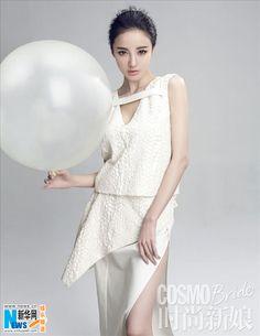 Chinese actress Liu Yuxin covers 'Cosmo Bride' magazine http://www.chinaentertainmentnews.com/2015/04/actress-liu-yuxin-poses-for-photo-shoot.html