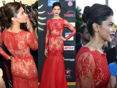 Deepika is a real style icon of Bollywood. On a red carpet, she catches the maximum eye balls. Deepika Padukone sizzled the green carpet of IIFA Awards 2014 Indian Celebrities, Bollywood Celebrities, Deepika Padukone Hair, Nice Dresses, Prom Dresses, Red Gowns, Green Carpet, Indian Film Actress, Green Fashion