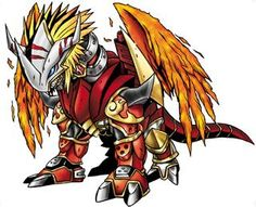 AncientGreymon - Mega level Ancient Dragon digimon; one of the Ten Legandary Warriors, survived to the end along AncientGarurumon and sealed away Lucemon