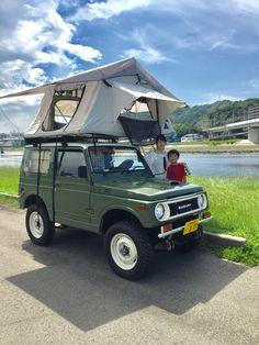 Samurai, Jimny 4x4, Used Cars Movie, Jimny Suzuki, Bushcraft, Combi Vw, Car Camper, Adventure Style, Roof Top Tent