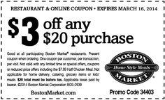 ... free printable coupons for boston market ...
