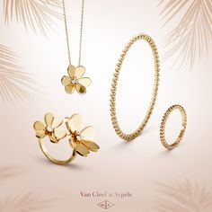 Enjoy a warm summertime with a selection of Van Cleef & Arpels' iconic creations such as Perlée and Frivole creations. Yellow gold is an enduring symbol of the radiance of the sun.