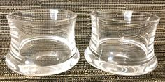 "iittala Finland Romantica Shot Glasses Set of 2 Tapio Wirkkala MCM 1.75""H EUC  #Iittala #MidCenturyModern"