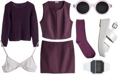 """Maroon Swoon"" by thalialouise ❤ liked on Polyvore"