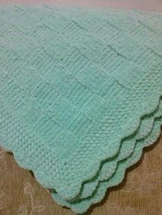 Moda Emo, Knitted Blankets, Baby Knitting Patterns, Retro, Body Art, Diy Crafts, Embroidery, Handmade, Blanket