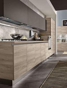 7 Modern Kitchen Cabinets Ideas To Try - Stylish Kitchen Cabinet Ideas Kitchen Room Design, Kitchen Cabinet Design, Home Decor Kitchen, Interior Design Kitchen, Kitchen Walls, Kitchen Ideas, Decorating Kitchen, Kitchen Wood, Zen Kitchen