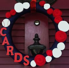13 St Louis Cardinals Wreath by meganasikainen on Etsy, $40.00