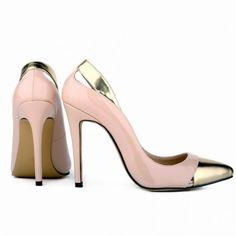 fa3c19038794 Scarpin - Nude e Dourado - Scarpins - Sapatos Importados - Sapatos