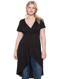 Paired with Legging's versus jeans Studio Knot Front Maxi Top from eloquii.com