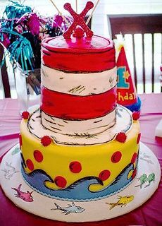 Dr Seuss' Cat in the Hat Cake made by Sugardeaux.