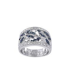 Another great find on #zulily! Blue Diamond & Sterling Silver Leaf Ring #zulilyfinds