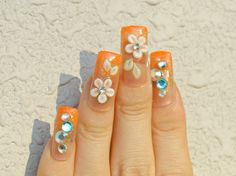 Long nails acrylic nails gyaru nail gaijin gyaru 3D by Aya1gou