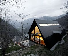 House at the Pyrenees, Spain designed by Architects Cadaval & Sola-Morales.
