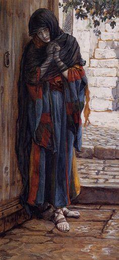 James Jacques Joseph Tissot (1836-1902) The Repentant Magdalene Gouache 1886-1894
