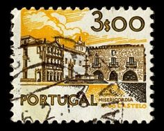 Portugal-CIRCA 1972:A stamp printed in Portugal shows image of hospital in Viana do Castelo, circa 1972. Stock Photo - 10752958
