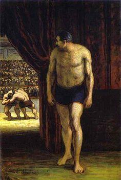 Honoré Daumier, The Wrestler, 1852