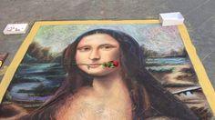 THE MONA LISA Portrait - Sidewalk Painting