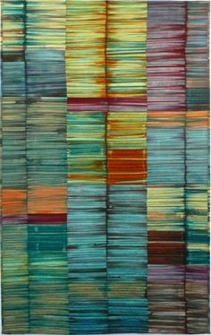 Modern quilt. Incredible colours.