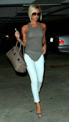 white DVB jeans by Victoria Beckham