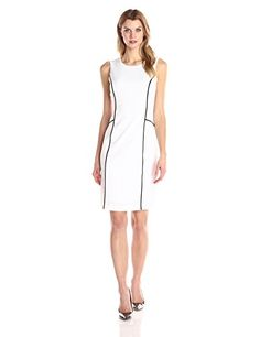 Calvin Klein Women's Sheath W Contrast Piping