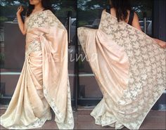 Tussar Silk With Cut Work-Code:2407150 Price Rs.10200/-