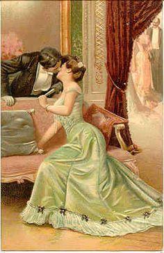 """"""" I Love You """" Karodens Vintage Post Cards."""